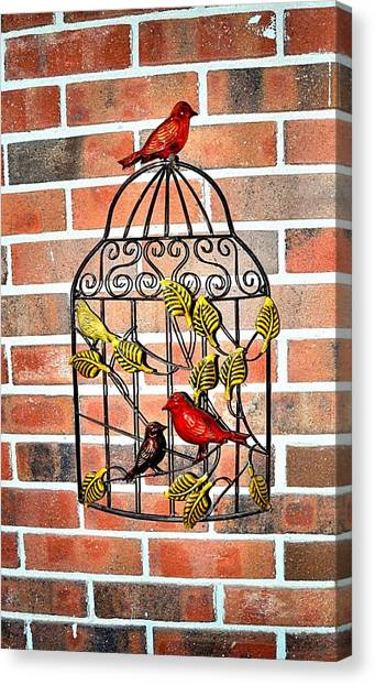 Bird Cage Decor Canvas Print