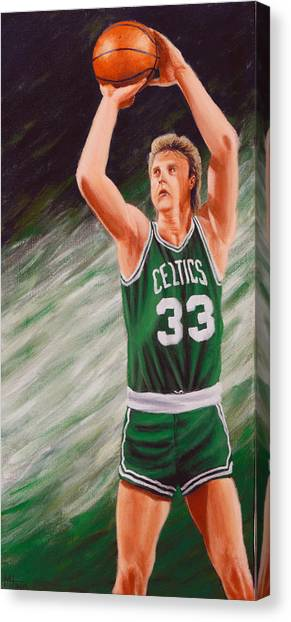 Larry Bird Canvas Print - Bird by Marlon Huynh