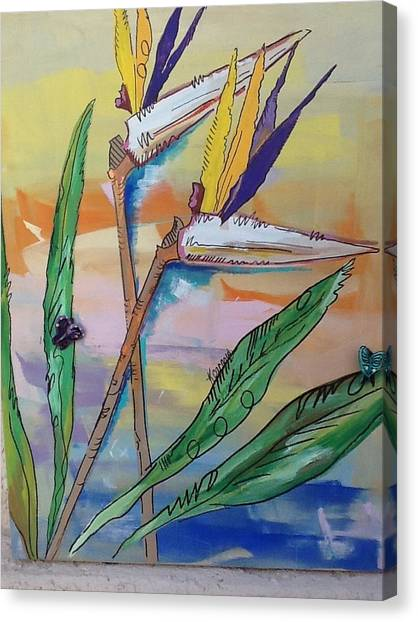 Bird Of Paradise Canvas Print by Karen Carnow