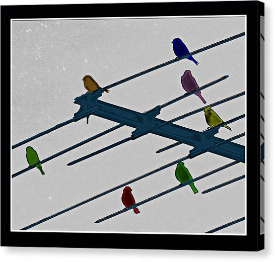 Bird Reception Canvas Print