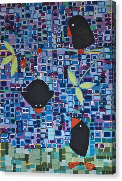 Bird Tricks Canvas Print