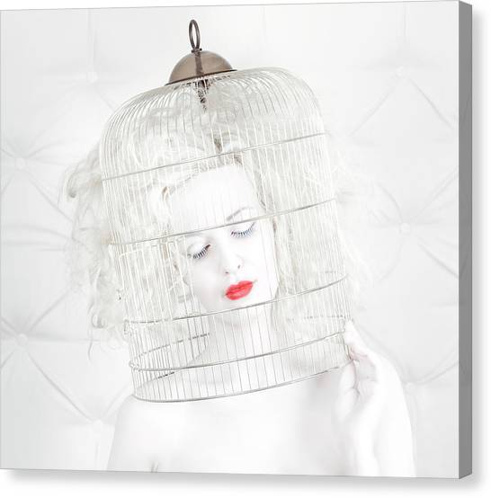 Mouth Canvas Print - Birdcage Love by John Andre Aasen