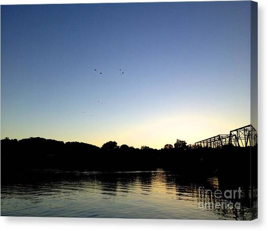 Birds And Blues Canvas Print