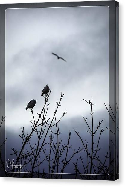 Birds For Breakfast Canvas Print