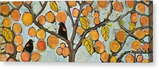 Blackbird Canvas Print - Birds In Paris Landscape by Blenda Studio