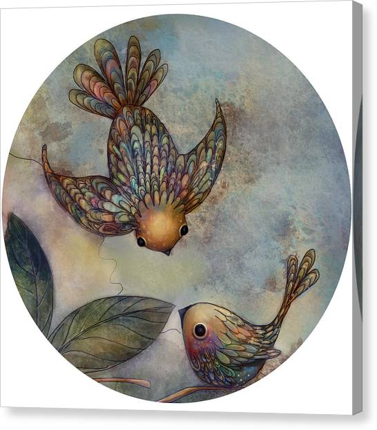 Baby Taylors Canvas Print - Birds Of Paradise by Karin Taylor