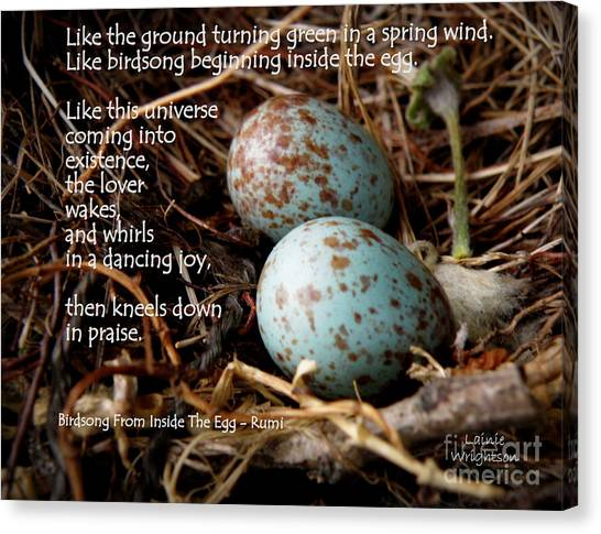 Birdsong From Inside The Egg Canvas Print