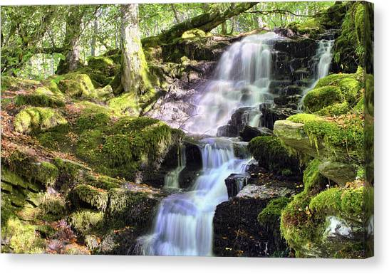 Birks Of Aberfeldy Cascading Waterfall - Scotland Canvas Print