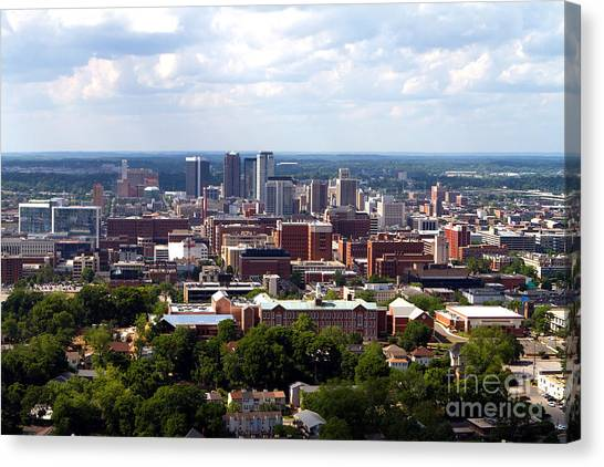 Birmingham Skyline Canvas Print