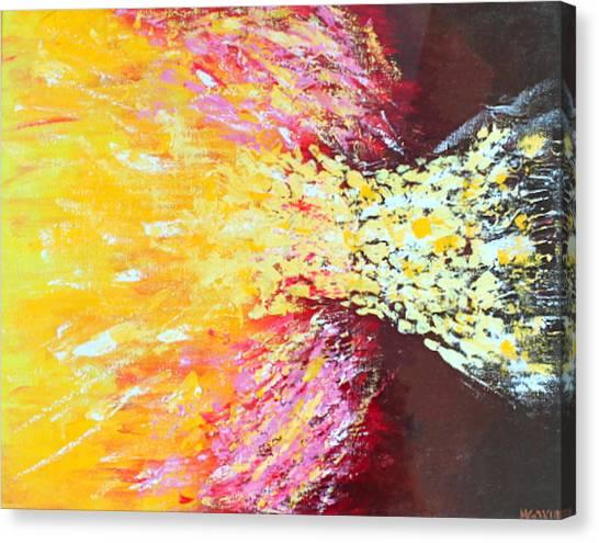 Birth Of A Star Canvas Print by Margarita Gokun