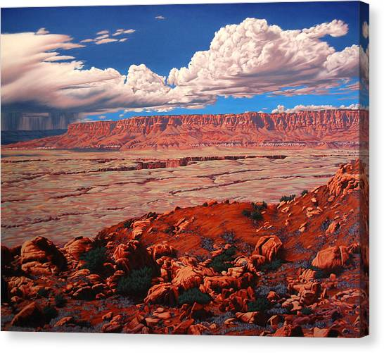 Birth Of The Canyon Canvas Print