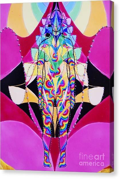 Birth Of The Flying Rainbow Lasagne Canvas Print by Nofirstname Aurora