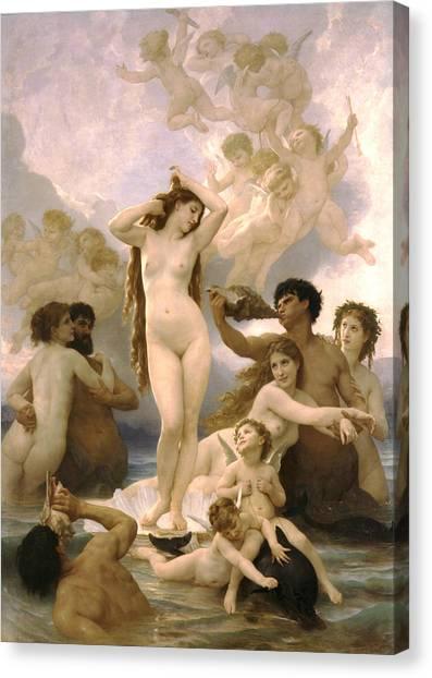 Tennis Pros Canvas Print - Birth Of Venus by William Bouguereau