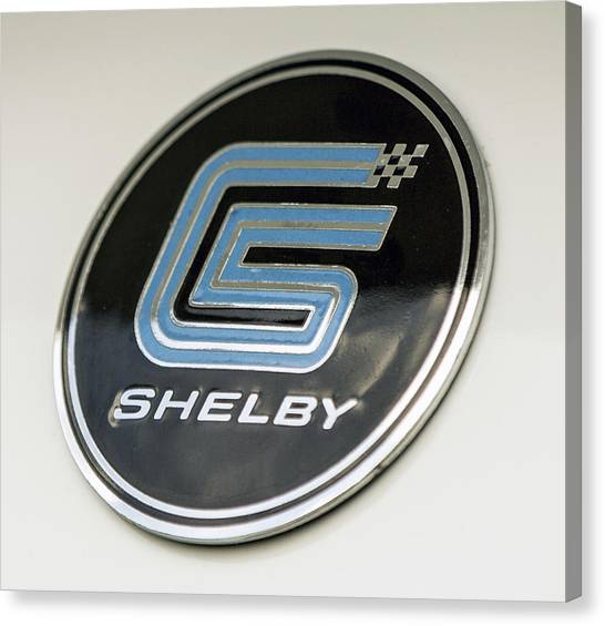 Birthday Car - Shelby Logo Canvas Print