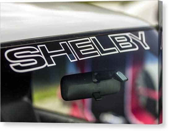 Birthday Car - Shelby Windshield Canvas Print