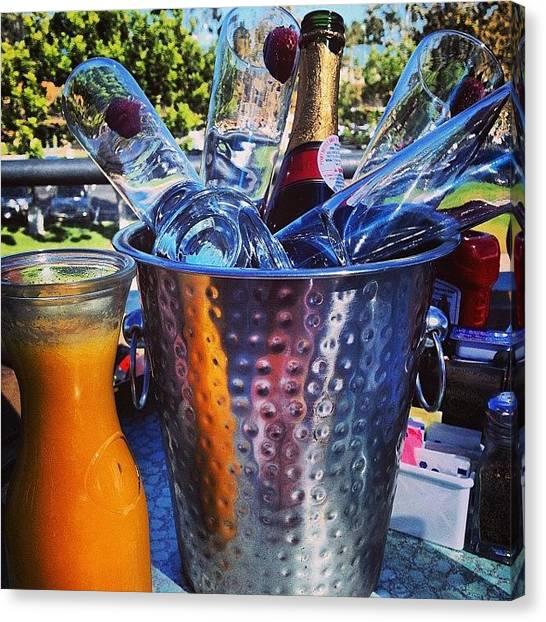 Mimosa Canvas Print - #birthday #mimosas #sandiego by Ray Jay