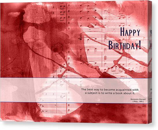 Birthday Quote 3 Canvas Print