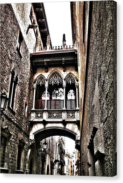 Bishop's Street - Barcelona Canvas Print
