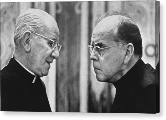 Conference Usa Canvas Print - Bishops Talk by Underwood Archives