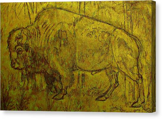 University Of Colorado Canvas Print - Golden  Buffalo by Larry Campbell