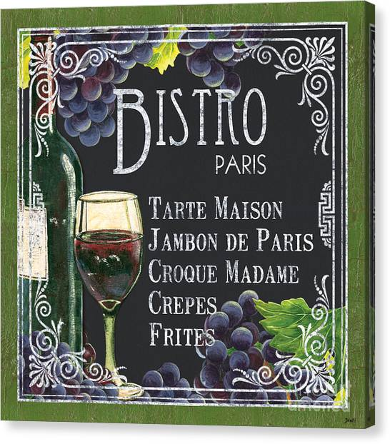 Bistros Canvas Print - Bistro Paris by Debbie DeWitt