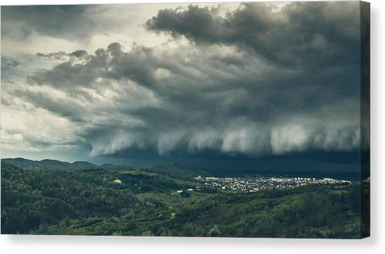 Hailstorms Canvas Print - Bitter Storm by Mihai Ilie