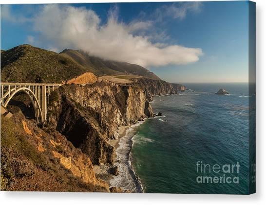Bixby Bridge Canvas Print - Bixby Coastal Drive by Mike Reid