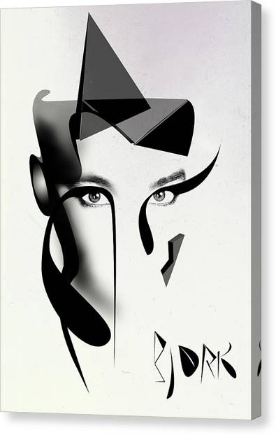 Abstract Nude Canvas Print - Bjork by PandaGunda