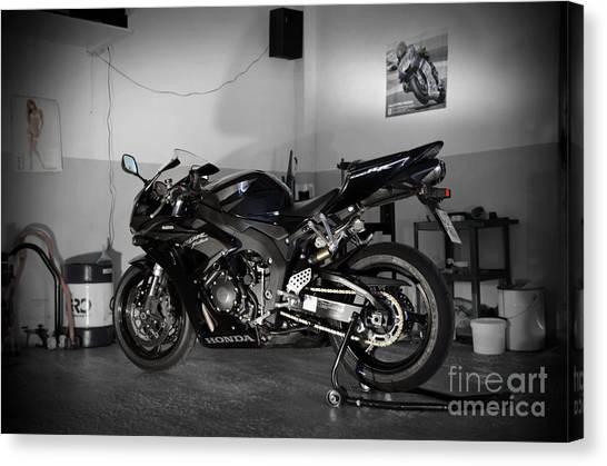 Black 2007 Honda Cbr1000rr Canvas Print