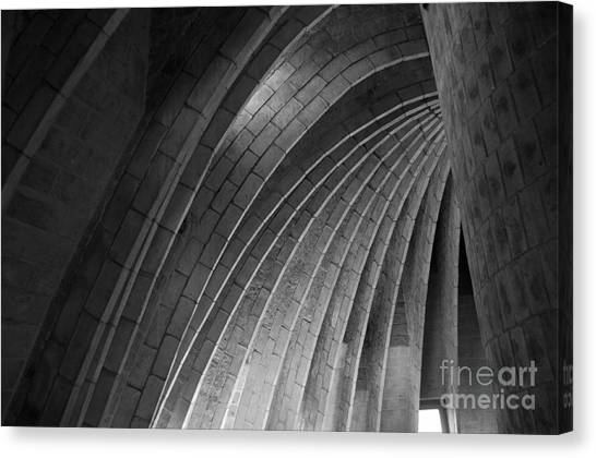 Black And White Arches Canvas Print