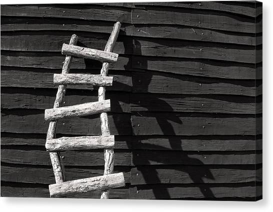Black And White Ladder Canvas Print