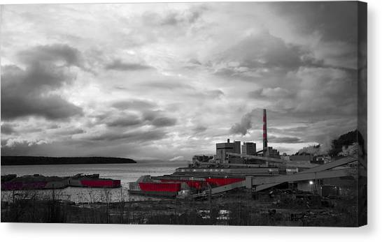 Black And White Mill Canvas Print