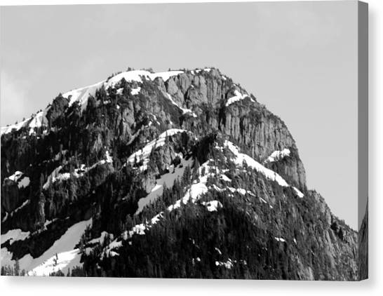 Black And White Mountain Range 1 Canvas Print by Diane Rada