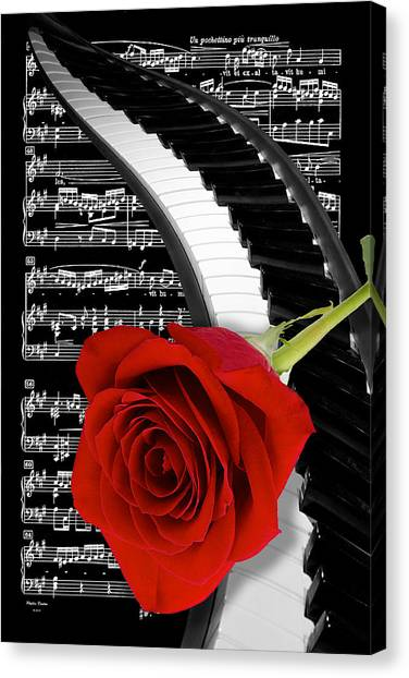 Black And White Music Collage Canvas Print