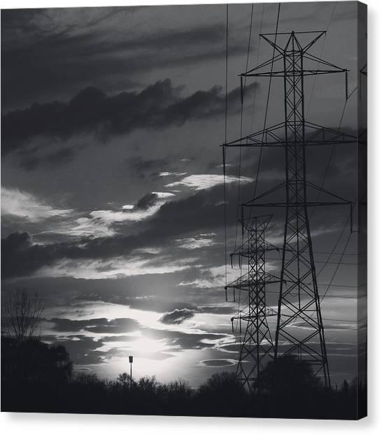 Black And White Skies Canvas Print