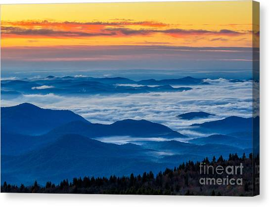 Pisgah National Forest Canvas Print - Sea Of Tranquility by Anthony Heflin