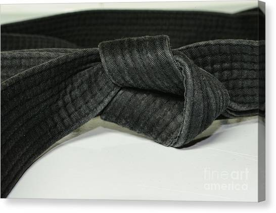 Karate Canvas Print - Black Belt by Paul Ward