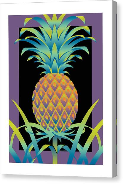 Black Bromeliad Canvas Print