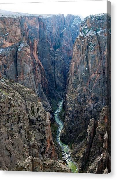 Black Canyon The River  Canvas Print