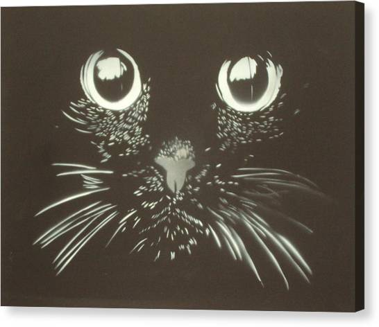 Black Cat Canvas Print by Christopher Golding