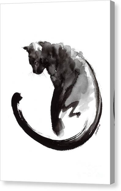 Cat Canvas Print - Black Cat by Mariusz Szmerdt