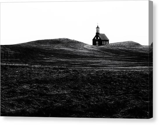 Grass Canvas Print - Black Chapel by Julien Oncete