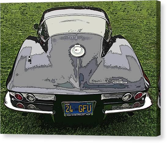 Black Chevy Corvette Stingray Canvas Print