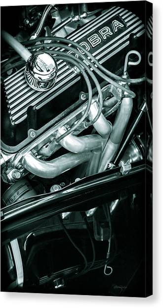 Black Cobra - Ford Cobra Engines Canvas Print