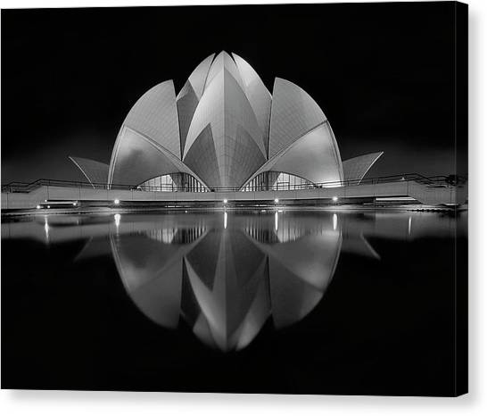 Modern Architecture Canvas Print - Black Contrast by Nimit Nigam