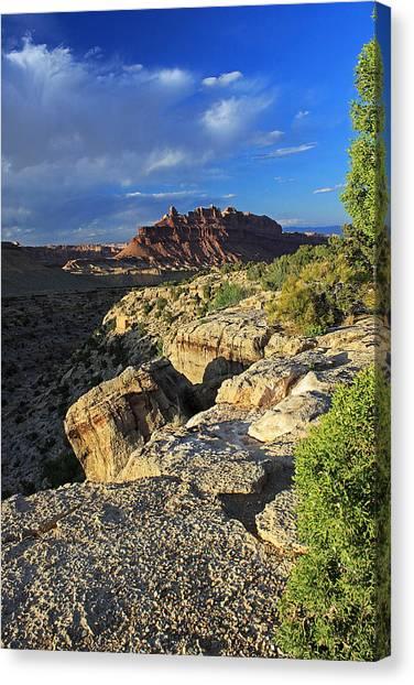 Black Dragon Canyon Vista Canvas Print