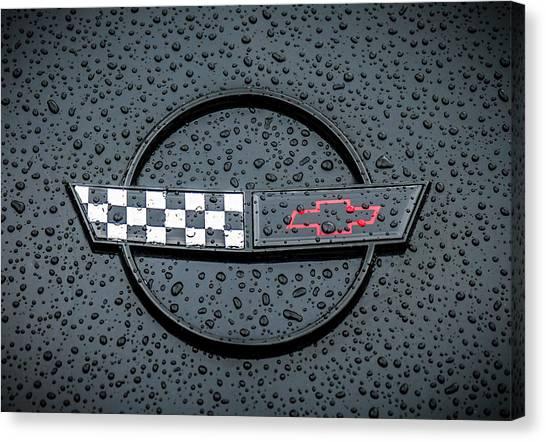 Chevy Canvas Print - Black Flag by Douglas Pittman