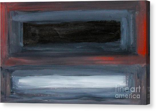Canvas Print - Black Gray Red After Rothko by Anne Cameron Cutri
