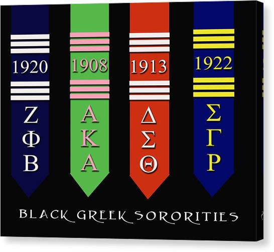 Gamma Phi Beta Canvas Print - Black Greek Sororities by Rodney Wofford