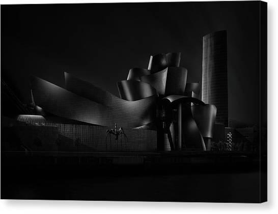 Museums Canvas Print - Black (guggenheim) Angle Iv by Juan Pablo De